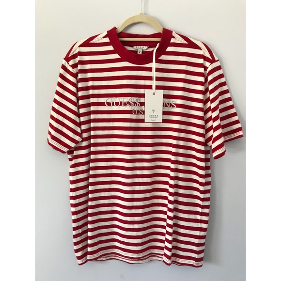 a08562be65 Guess Jeans x ASAP Rocky Collab Striped T-Shirt